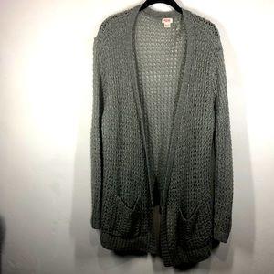 Mossimo gray open cardigan size xxl
